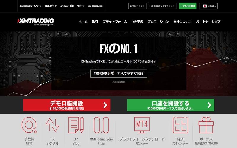 おすすめの海外FX業者XMTradingのホームページ