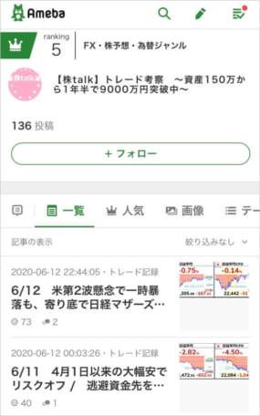スイングトレードおすすめブログ「株talk」
